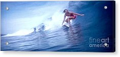 Woman Surfer Acrylic Print