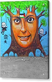 Acrylic Print featuring the photograph Woman Tree by Munir Alawi