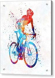 Woman Triathlon Cycling 06 Acrylic Print by Pablo Romero
