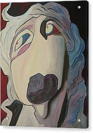 Woman Unable To Communicate Acrylic Print by Suzanne  Marie Leclair