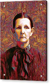 Woman With A Bow Acrylic Print