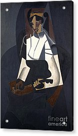 Woman With Mandolin Acrylic Print