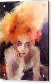Woman With Red Hair Acrylic Print