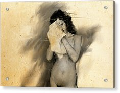 Woman With Towel Acrylic Print