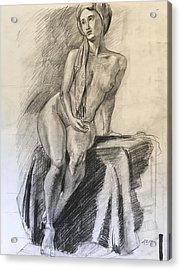 Woman With Turban Acrylic Print by Alejandro Lopez-Tasso
