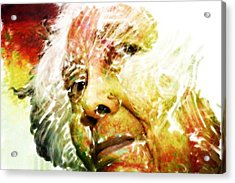 Woman With White Hair Acrylic Print by James VerDoorn