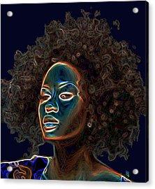 Womans Essence IIi  Acrylic Print by  Fli Art