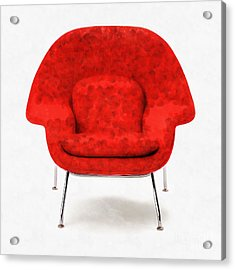 Womb Chair Mid Century Modern Acrylic Print by Edward Fielding