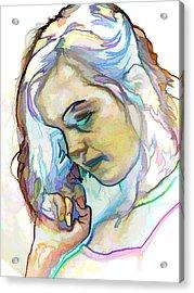 Women Body - Color Face2 Acrylic Print by Robert Litewka