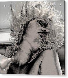 Women Body-metalic Face Acrylic Print by Robert Litewka