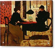 Women By Lamplight Acrylic Print