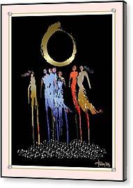 Women Chanting - Enso  Acrylic Print