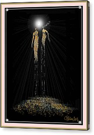 Women Chanting - Full Moon On The Mountain Acrylic Print