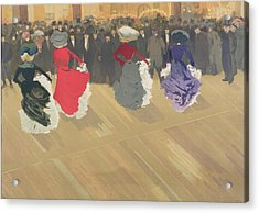 Women Dancing The Can Can Acrylic Print by Abel Truchet