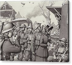 Women From The Salvation Army During The Great War Acrylic Print by Pat Nicolle