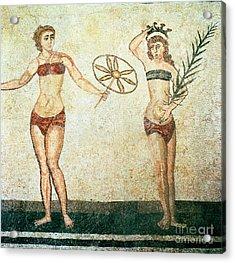 Women In Bikinis From The Room Of The Ten Dancing Girls Acrylic Print by Roman School
