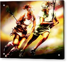Women In Sports - Lacrosse Acrylic Print
