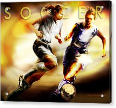 Women In Sports - Soccer Acrylic Print