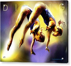 Women In Sports - Tandom Diving Acrylic Print