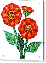 Women Not Only Deserve Flowers Acrylic Print