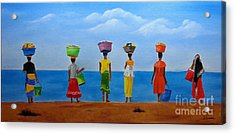 Women Of Africa  Acrylic Print by Bev Conover