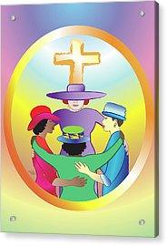 Women's Circle Of Faith Acrylic Print