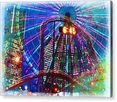 Wonder Wheel At The Coney Island Amusement Park Acrylic Print by Lanjee Chee