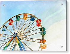 Acrylic Print featuring the painting Wonder Wheel by Edward Fielding