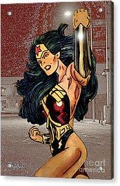 Wonder Woman Acrylic Print by Bill Richards