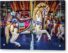 Wonderful Carrousel Horse Ride Acrylic Print
