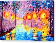 Wonderful Rainy Nights Acrylic Print