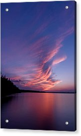 Acrylic Print featuring the photograph Wonderful Skeleton Lake Sunset by Darcy Michaelchuk