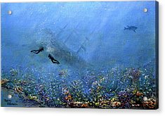 Wonderful Water World Acrylic Print by Thierry Vobmann