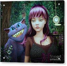 Wonderland Alice Acrylic Print
