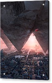 wonders great pyrimaid of Giza Acrylic Print