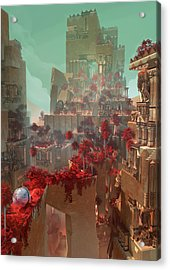 Wonders Hanging Garden Of Babylon Acrylic Print