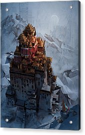 Wonders Holy Temple Acrylic Print by Te Hu
