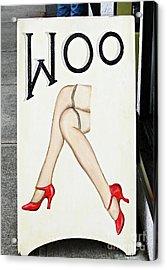 Woo Acrylic Print by Ethna Gillespie