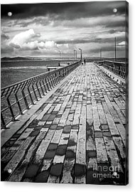 Acrylic Print featuring the photograph Wood And Pier by Perry Webster