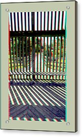 Wood And Shadows - Use Red-cyan Filtered 3d Glasses Acrylic Print