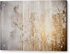 Wood Background With Branches Double Exposure Style With Instagr Acrylic Print