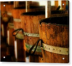 Wood Barrels Acrylic Print by Perry Webster