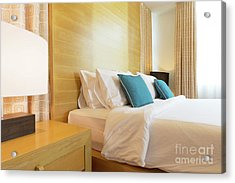 Acrylic Print featuring the photograph Wood Bed by Atiketta Sangasaeng