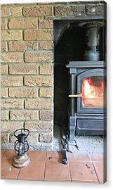 Wood Burning Stove Acrylic Print by Tom Gowanlock