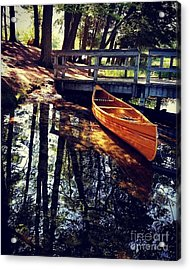 Wood Canoe Acrylic Print