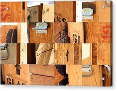 Wood Crates Acrylic Print