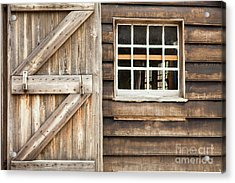 Wood Door And Window Acrylic Print