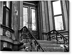 Wood Door In Park Slope Acrylic Print by John Rizzuto