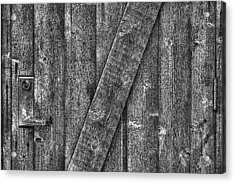 Wood Door With Handle Detail Acrylic Print