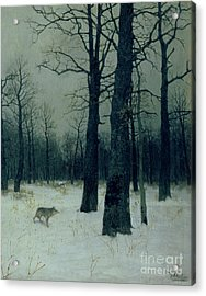 Wood In Winter Acrylic Print by Isaak Ilyic Levitan